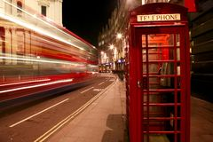 Red Telephone Booth Royalty Free Stock Images