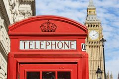 Red Telephone Booth Stock Photos