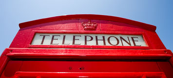 Red Telephone Booth Stock Image