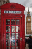 Red Telephone Booth and Big Ben Royalty Free Stock Images