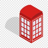 Red telephone booth isometric icon Royalty Free Stock Image