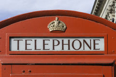 Red telephone booth, London Royalty Free Stock Photo