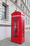 Red telephone booth in London Royalty Free Stock Photos