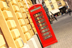 Red telephone booth london Stock Photo