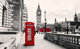 Red Telephone Booth in London. United Kingdom Stock Photography
