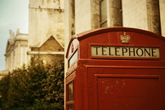 Red telephone booth Royalty Free Stock Image