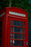 Red telephone booth, symbolic english red booth, england icon, c Stock Photo