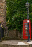 Red telephone booth, symbolic english red booth, england icon, c Royalty Free Stock Images