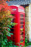 Red telephone booth, symbolic english red booth, england icon, c Stock Images