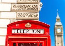 Red Telephone Booth under Big Ben - London Stock Images