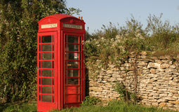 Red Telephone Box. Horizontal format Royalty Free Stock Image