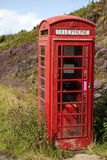 Red Telephone Box. In Rural Setting, Scotland, UK Stock Photos