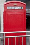 Red Telephone Box. Traditional Red Telephone Box, London with Copyspace Royalty Free Stock Images
