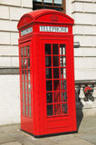 Red Telephone Box. The Red Telephone Box is a classic feature in the heart of London Royalty Free Stock Photo