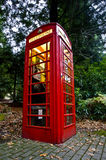 Red Telephone Box. Old English Red Telephone Box Stock Photo
