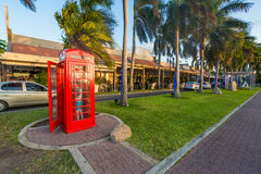 Red telephone box Stock Images