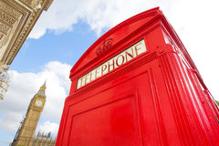 Red telephone box and ben Royalty Free Stock Image