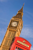 Red telephone box and Big Ben,  London Stock Image