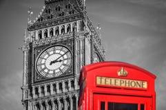 Red telephone box and Big Ben,  London Stock Photos
