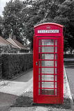 Red Telephone Box with Blue Sky Stock Image
