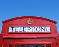 Red Telephone Box Stock Photo