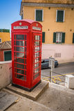 Red telephone box on Gibraltar Royalty Free Stock Photo