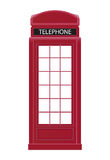 Red Telephone Box Icon Vector Illustration Royalty Free Stock Image