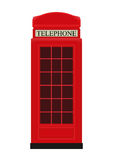 Red Telephone Box Icon Vector Illustration Royalty Free Stock Photo