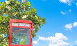 Red telephone box Royalty Free Stock Photos