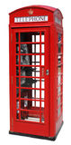 Red Telephone Box Isolated Stock Photos