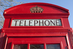 Red Telephone Box in London Stock Image