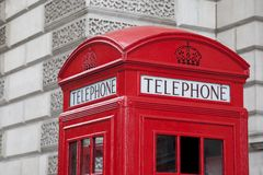 Red Telephone Box, London Stock Image