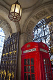 Red Telephone Box in London Royalty Free Stock Images