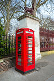 Red telephone box, london, Uk. Royalty Free Stock Image