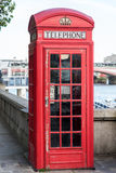 Red telephone box. London, UK. An old red telephone box in London, UK Royalty Free Stock Photography