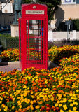 Red telephone box mold English Royalty Free Stock Images