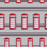 Red telephone box  seamless pattern Royalty Free Stock Photos