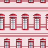 Red telephone box  seamless pattern. Red britain telephone box  seamless pattern Royalty Free Stock Image