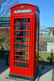 The red telephone box Stock Photo