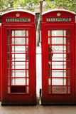 The red telephone box, a telephone kiosk for a public telephone designed by Sir Giles Gilbert Scott, was a familiar sight on the s Stock Photos