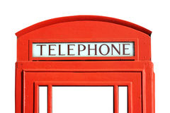 Red telephone box. Traditional Red Telephone Box in London, UK Royalty Free Stock Photos