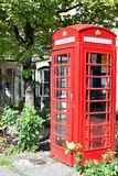 Red telephone box in UK Royalty Free Stock Photo