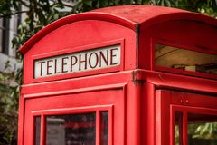 The red telephone box in the United Kingdom Royalty Free Stock Images