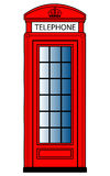Red Telephone Box. A vector image of an old red telephone box, typically found across England and London Royalty Free Illustration