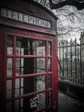 Red Telephone Box vintage in Birmingham royalty free stock images