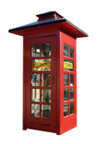 Red telephone box on white Stock Image