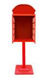 Red telephone box on a white background. Stock Photo