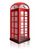 Red telephone box. On white eps10 Royalty Free Stock Photos