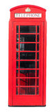 Red Telephone Box on White Stock Photos