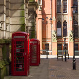Red Telephone boxes. In Birmingham street Stock Photo